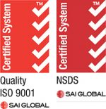 SAI Global NSDS and ISO 9001 Certified System Badge